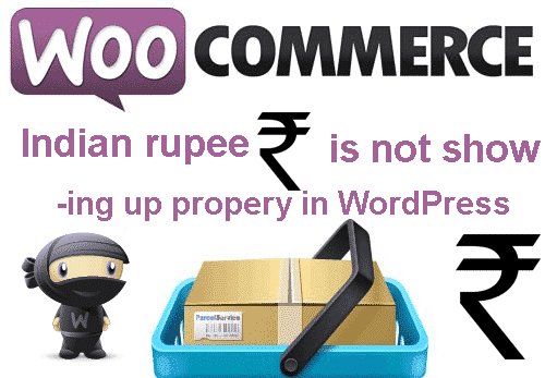 Woo Commerce Indian rupee not displaying properly on product page